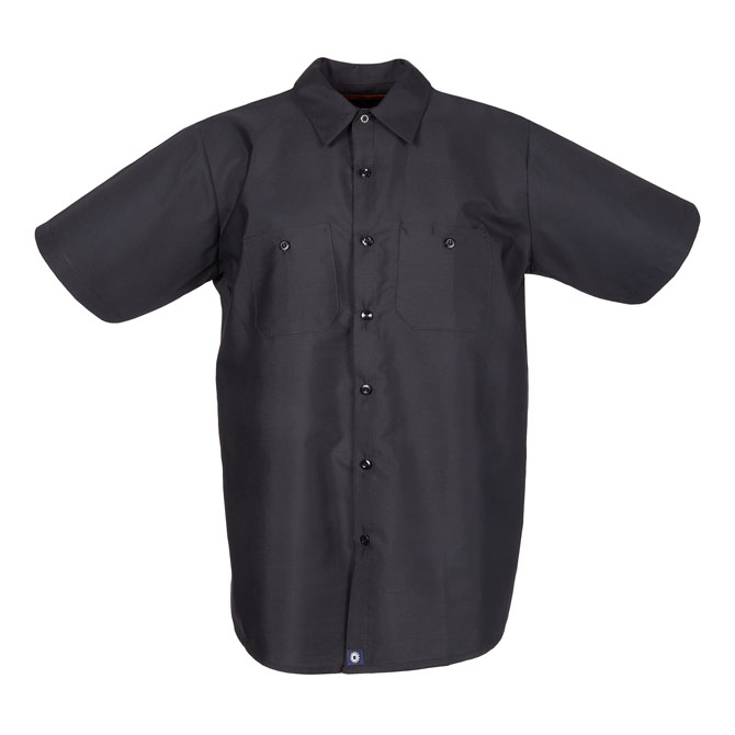 65/35 Men's Short Sleeve Industrial Work Shirt-