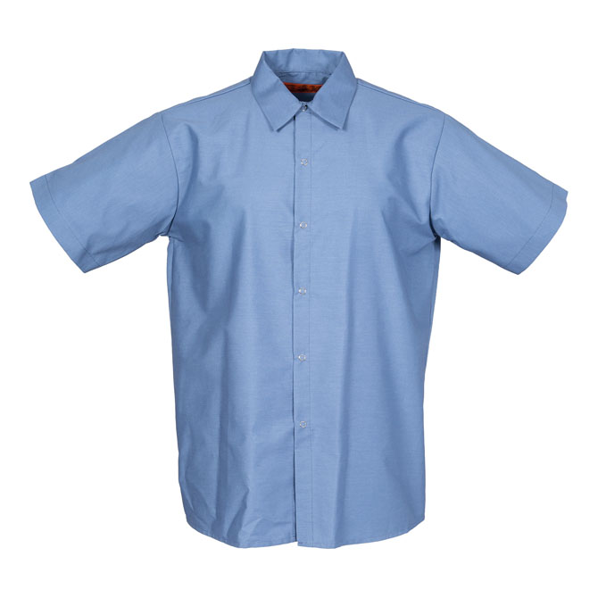 Industrial Mens Shirt, gripper front, Short Slv-