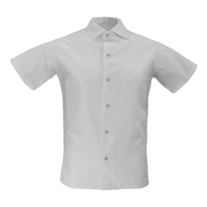 Cook Shirt, Spun Poly, No Pocket, grippers-