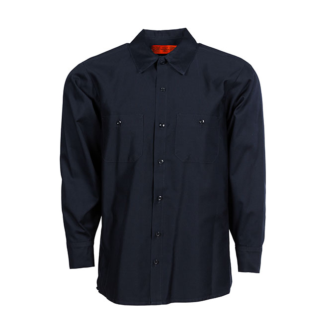 100% Cotton Men's Wrinkle-Resistant Industrial Work Shirt-Pinnacle WorX