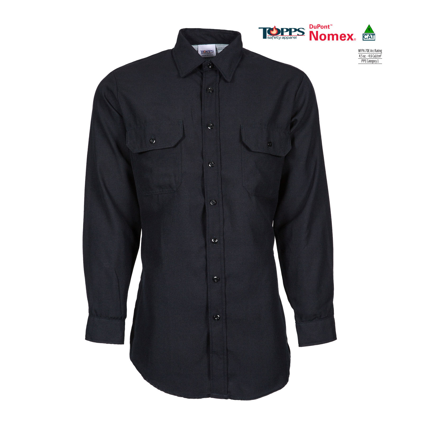 NOMEX® Long Sleeve Flame Resistant Button-Front Uniform Shirt-