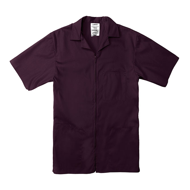 Professional Zip-Front Shirt-PINNACLE IMAGE
