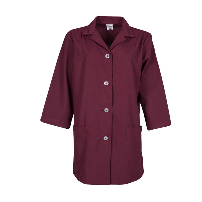 Women's 3/4 Sleeve Utility Button Smock-PINNACLE IMAGE