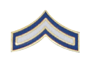 "3/4"" Police Chevron Blue & White Enamel-"