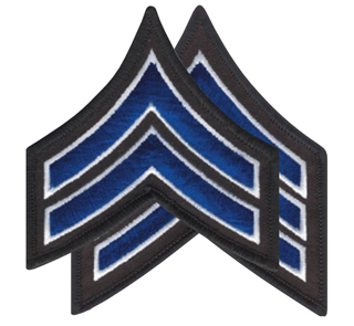 "3 1/2"" Chevrons Merrowed Border 3 3/4"" X 3""-Premier Emblem"