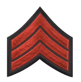 "3"" Chevrons Merrowed Border 3"" X 3""-Premier Emblem"