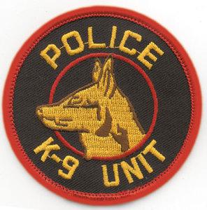 "3"" Police K-9 Unit Circle-Premier Emblem"