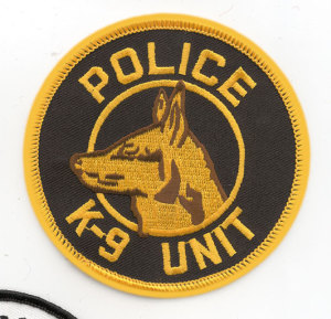 "3 1/2"" Police K-9 Unit Circle-Premier Emblem"