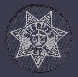 "3"" Circle Sheriff Dept.-Premier Emblem"