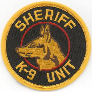 "3"" Sheriff K-9 Unit Circle-Premier Emblem"
