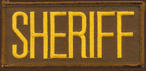 "2"" X 4"" Sheriff Dept Patch-"