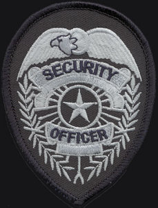 "3 3/4"" X 2 3/4"" Security Officer Badge-Premier Emblem"
