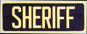 "4"" X 11"" Sheriff Dept Patch-Premier Emblem"
