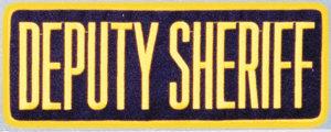 """4"""" X 11"""" Deputy Sheriff Patch-"""