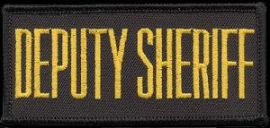 """2"""" X 4"""" Deputy Sheriff Patch-"""