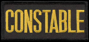 """2"""" X 4"""" Constable Patch-Premier Emblem"""