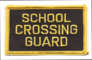 "3"" School Crossing Guard Patch-Premier Emblem"