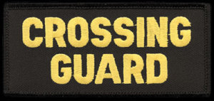 "2"" X 4"" School Crossing Guard Patch-Premier Emblem"