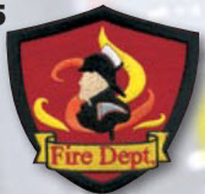 Fire Dept Patch W/Firefighter - E1416-