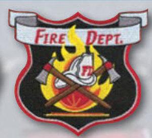 Fire Dept Patch W/Fire Scramble Center-