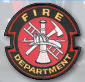 Fire Dept Red W/White Fire-