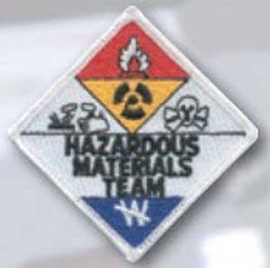 "3"" Hazardous Materials Team Patch-"