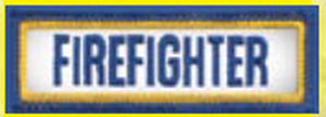 "1"" X 3"" Firefighter Tab Patch-"