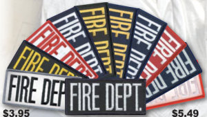"2"" X 4"" Fire Dept Patch-"