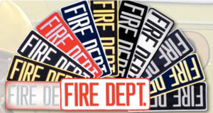 "4"" X 11"" Fire Dept Patch-Premier Emblem"