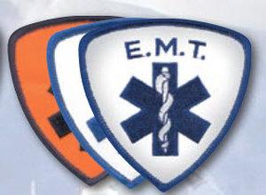 """3 1/2"""" X 3.5"""" E.M.T. Shield-Premier Emblem"""