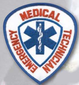 "4"" X 3.75"" E.M.T. Shield(E1564)-Premier Emblem"