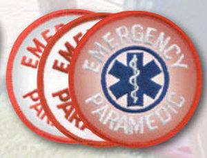 "3"" Staff Of Life Circle - Paramedic-Premier Emblem"