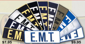 """4"""" X 11"""" E.M.T. Patch-Premier Emblem"""