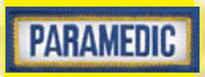 "Paramedic 1"" X 3"" Tab Size Emblem-"
