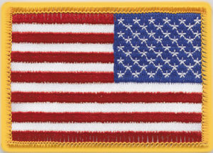 "2 1/4"" X 3 1/2"" Reverse American Flags-"