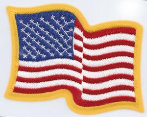 """2 3/4"""" X 3 1/4"""" Wavy American Flag-Premier Emblem"""