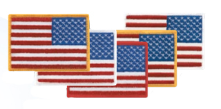 """2"""" X 3 1/2"""" Reverse American Flags-"""
