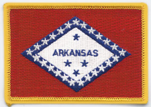 "2 1/2"" X 3 1/2"" ARKANSAS State Flag-"