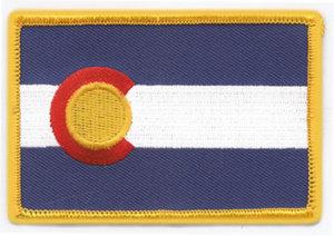 """2 3/8"""" X 3 1/2"""" COLORADO State Flag-"""