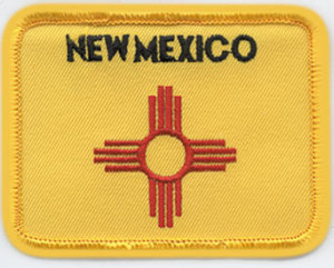 "2 1/2"" X 3 3/8"" NEW MEXICO State Flag-Premier Emblem"