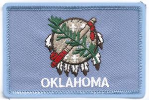 "2"" X 3 1/4"" OKLAHOMA State Flag-"
