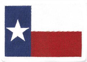 "2 1/2"" X 3 1/4"" TEXAS White Broder State Flag-Premier Emblem"
