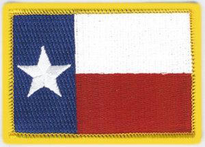 """2 1/2"""" X 3 1/4"""" TEXAS Gold Broder State Flag-Premier Emblem"""