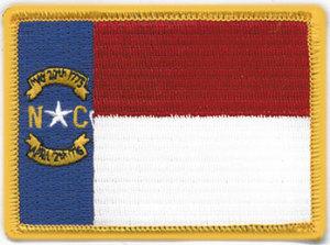 "2 1/2"" X 3 1/4"" NORTH CAROLINA State Flag-Premier Emblem"