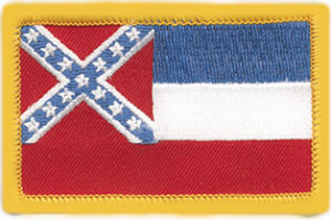 """2"""" X 3 1/4"""" MISSISSIPPI State Flag-Premier Emblem"""