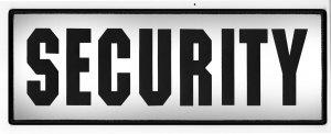 "Security 4""x11"" Silksreen Reflective-"