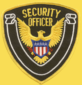 "1/4"" X 4 1/2"" Security Office & Eagle White Banner-Premier Emblem"