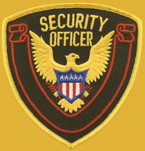 "4 1/4"" X 4 1/2"" Security Officer Eagle Red Banner-Premier Emblem"