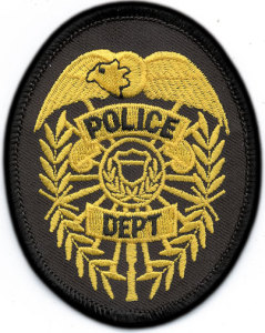 "3 1/2"" X 2 3/4"" Police Dept.Shield Center-"