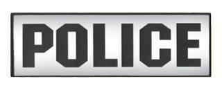 "4"" X 11"" Police Silk Screen Patch-"